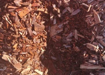 Aged pine woodchips